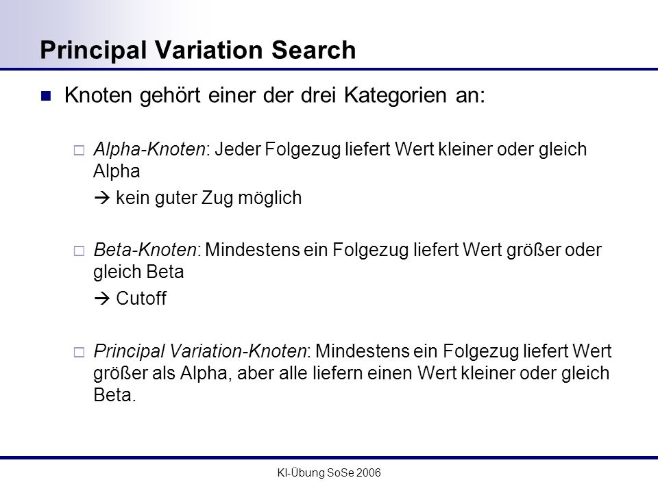 Principal Variation Search