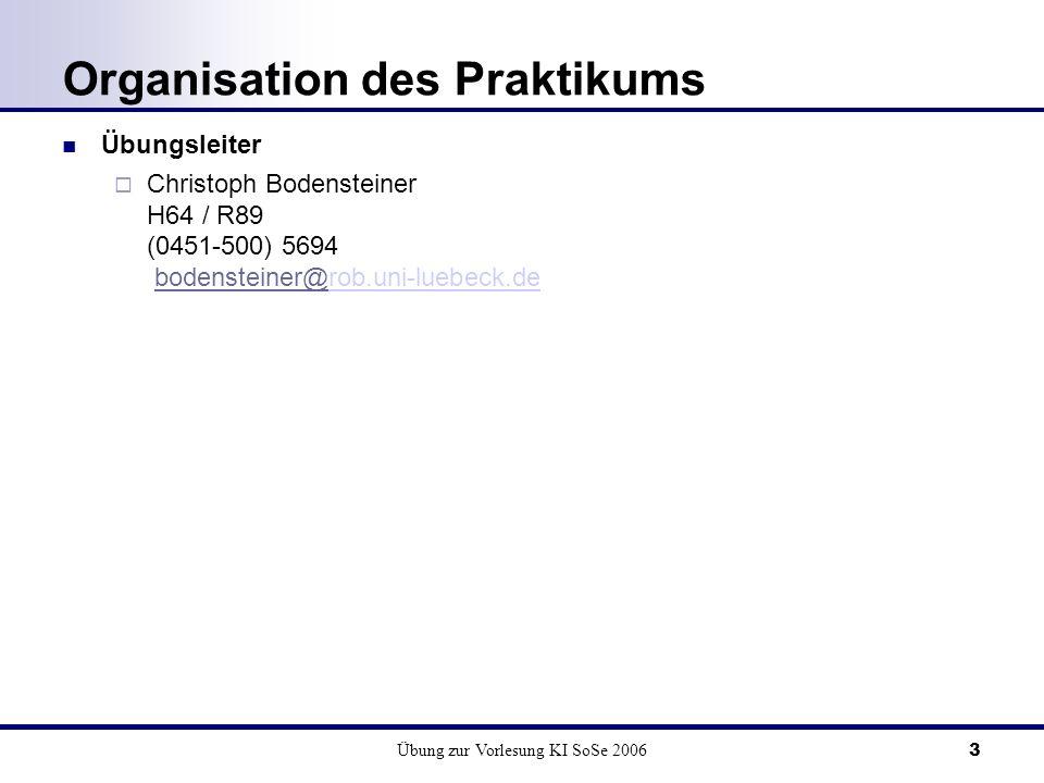 Organisation des Praktikums