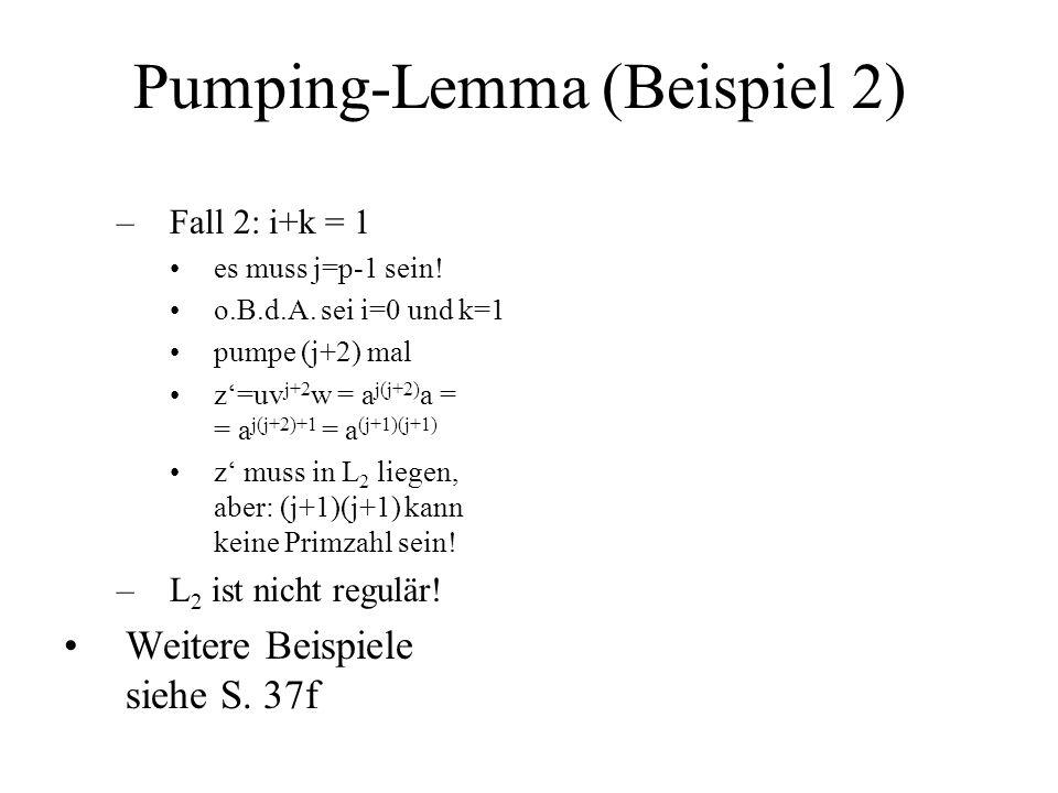 Pumping-Lemma (Beispiel 2)