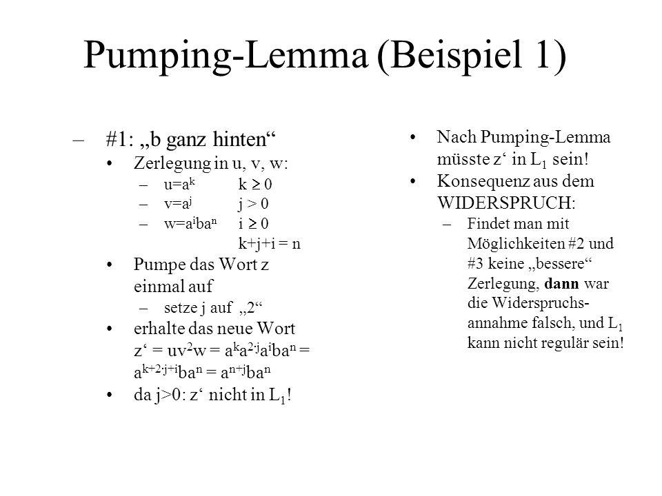 Pumping-Lemma (Beispiel 1)