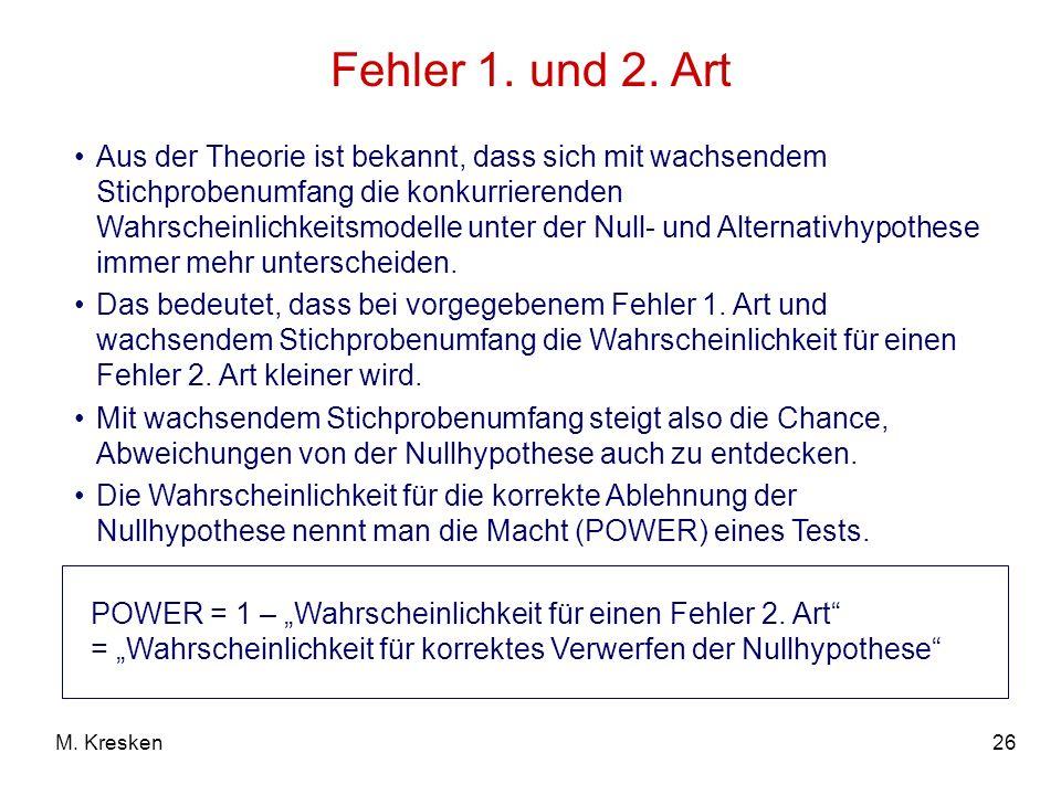 Fehler 1. und 2. Art