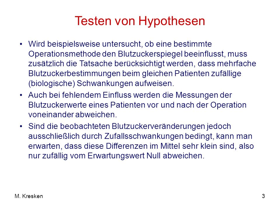 Testen von Hypothesen