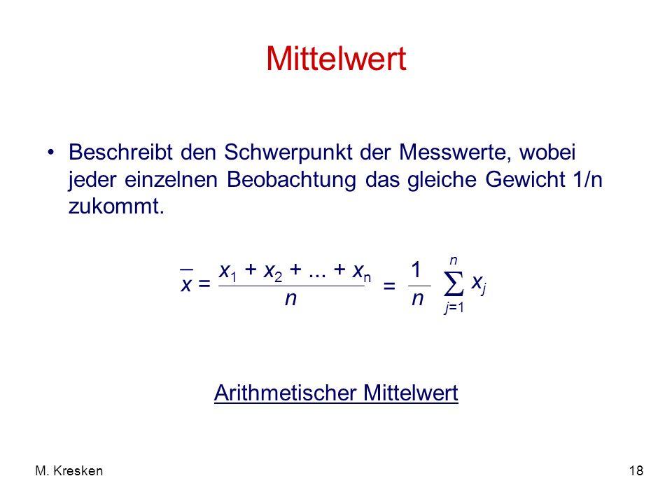 Arithmetischer Mittelwert