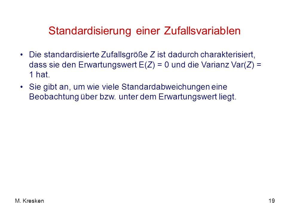 Standardisierung einer Zufallsvariablen