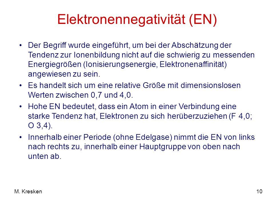 Elektronennegativität (EN)