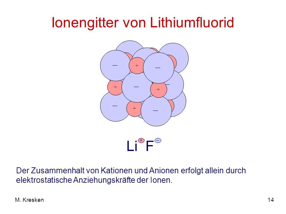 Ionengitter von Lithiumfluorid