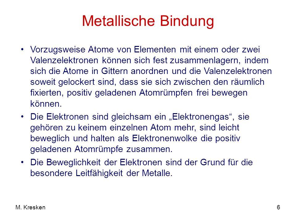 Metallische Bindung