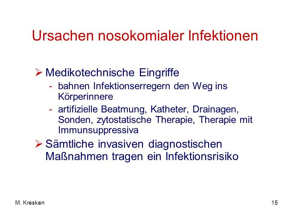 Ursachen nosokomialer Infektionen