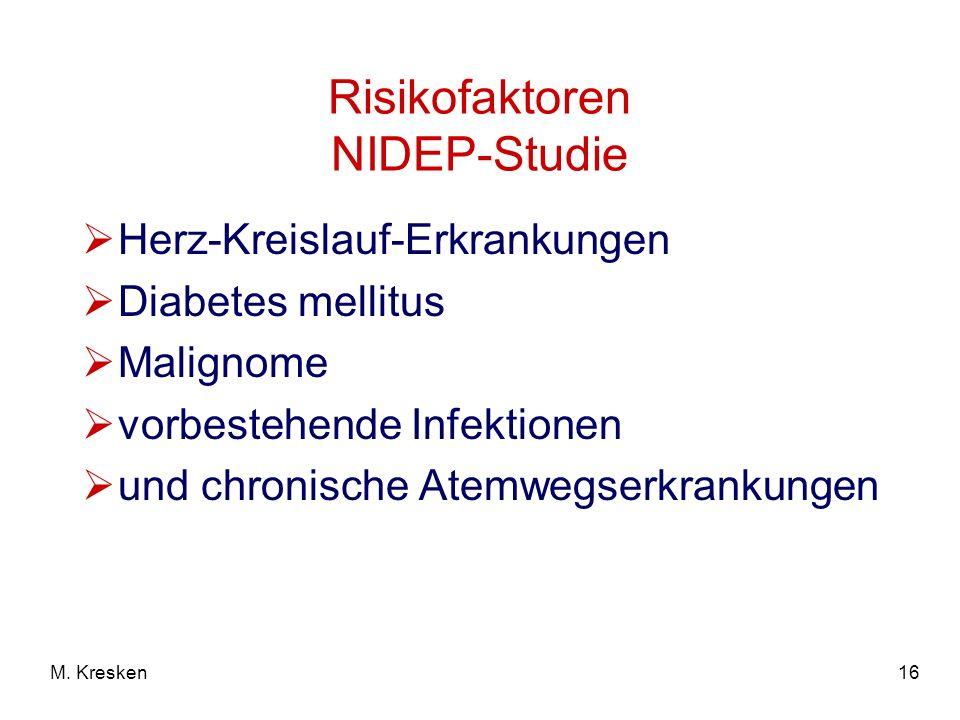 Risikofaktoren NIDEP-Studie