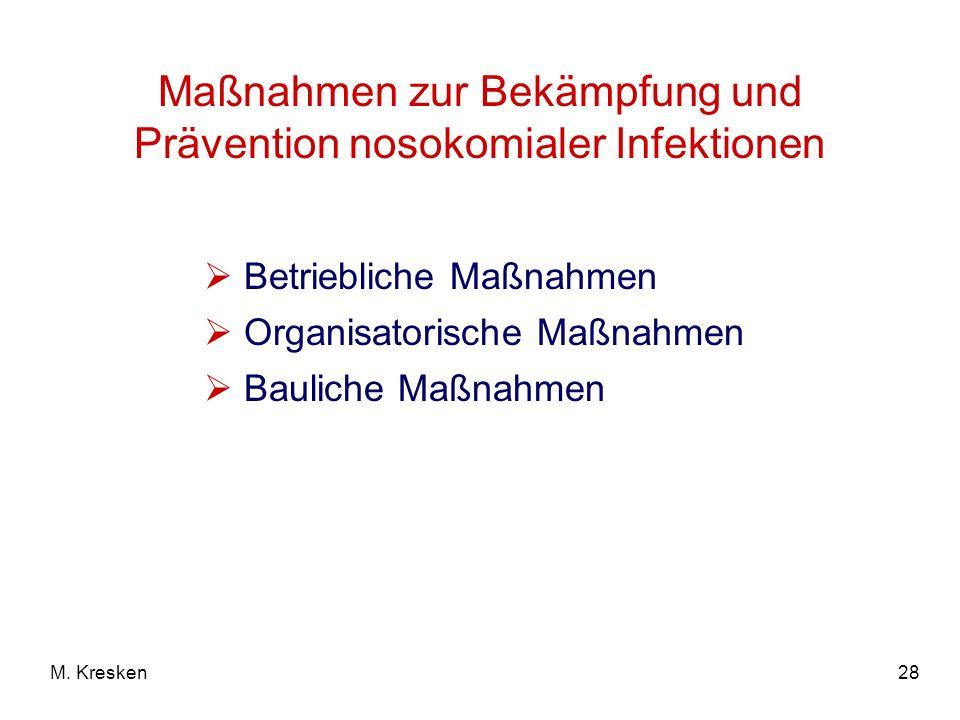 Maßnahmen zur Bekämpfung und Prävention nosokomialer Infektionen