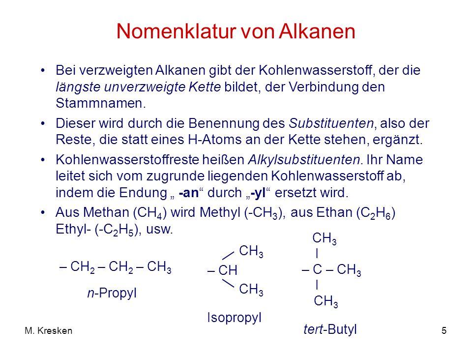 Nomenklatur von Alkanen