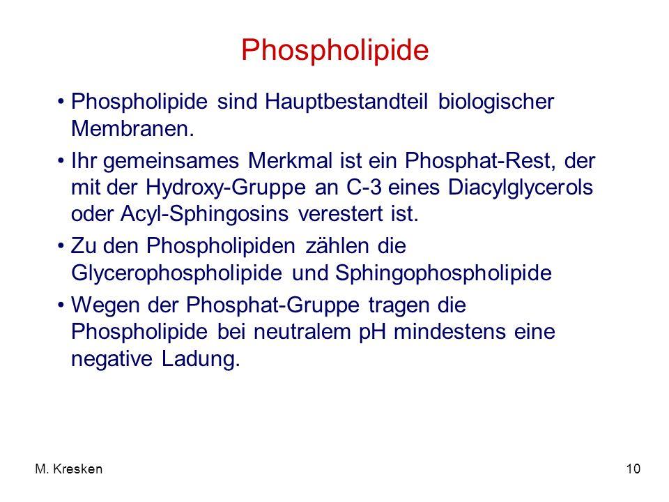 Phospholipide Phospholipide sind Hauptbestandteil biologischer Membranen.