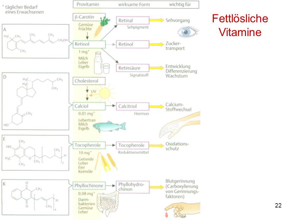 Fettlösliche Vitamine M. Kresken