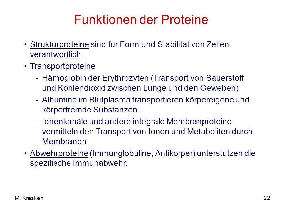 Funktionen der Proteine