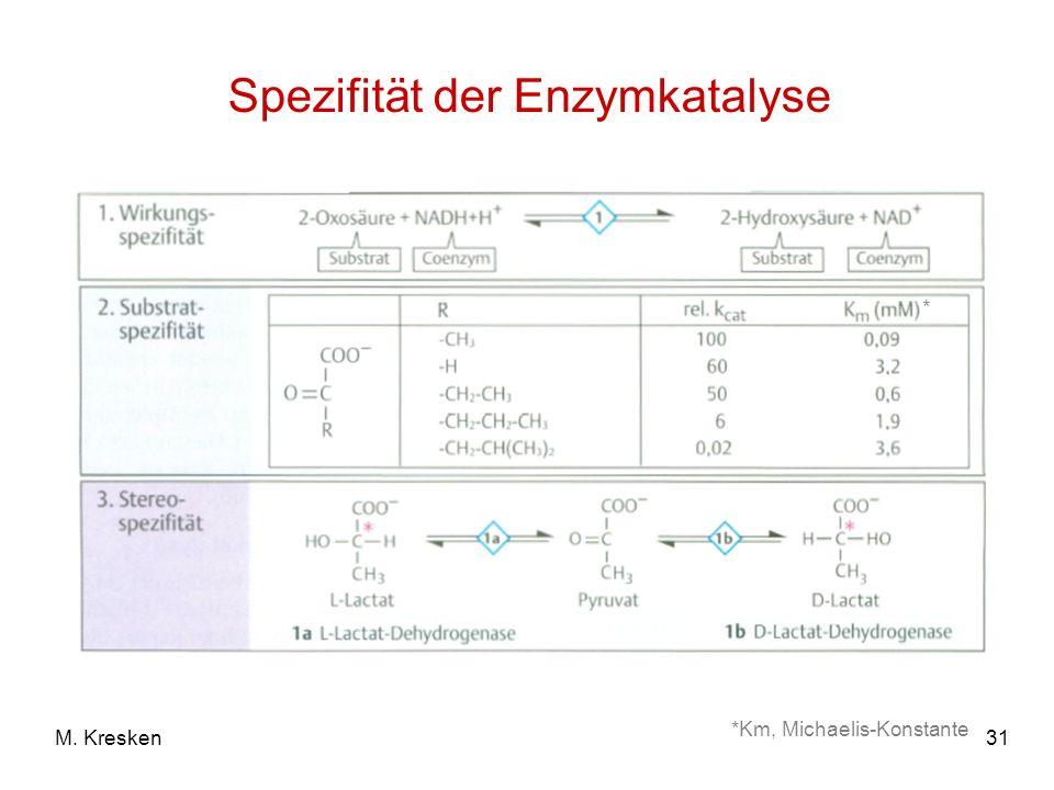 Spezifität der Enzymkatalyse
