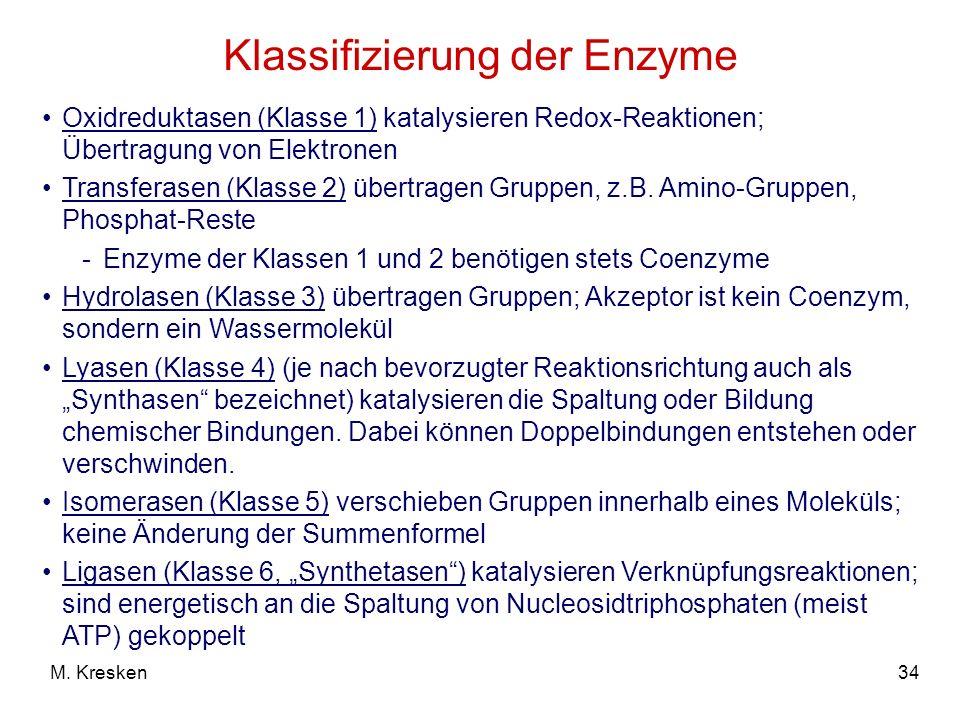 Klassifizierung der Enzyme