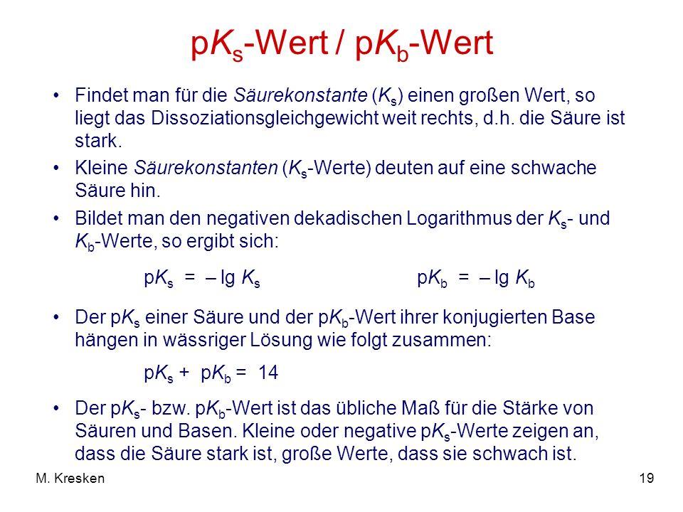 pKs-Wert / pKb-Wert