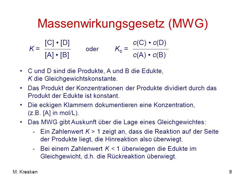 Massenwirkungsgesetz (MWG)