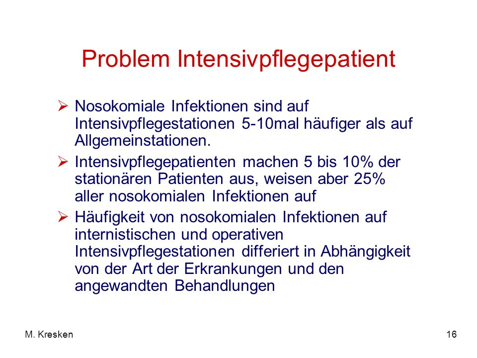 Problem Intensivpflegepatient