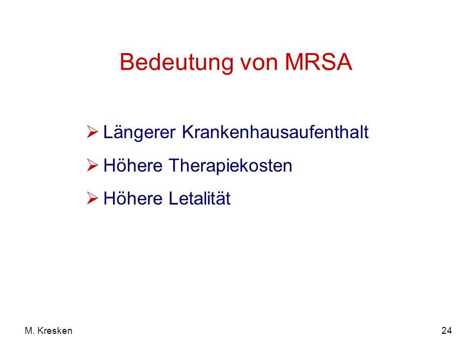 Bedeutung von MRSA Längerer Krankenhausaufenthalt