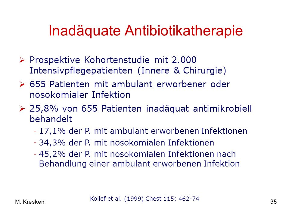Inadäquate Antibiotikatherapie
