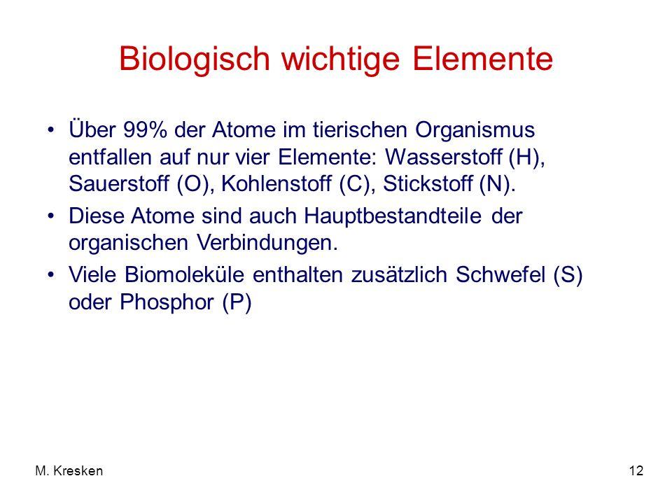 Biologisch wichtige Elemente