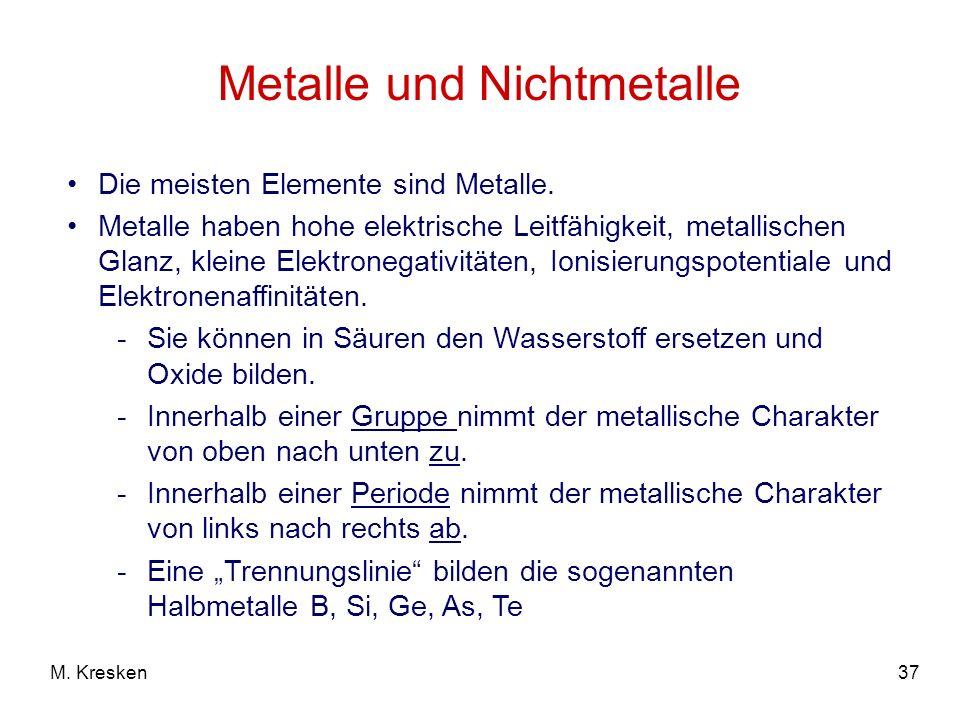Metalle und Nichtmetalle