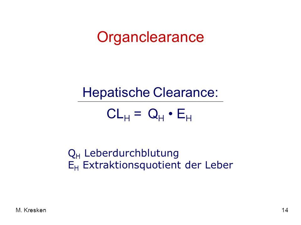 Hepatische Clearance: