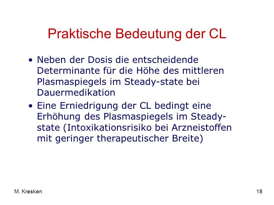 Praktische Bedeutung der CL
