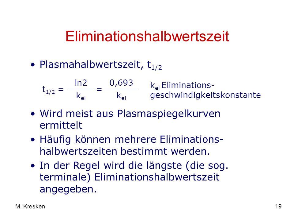 Eliminationshalbwertszeit