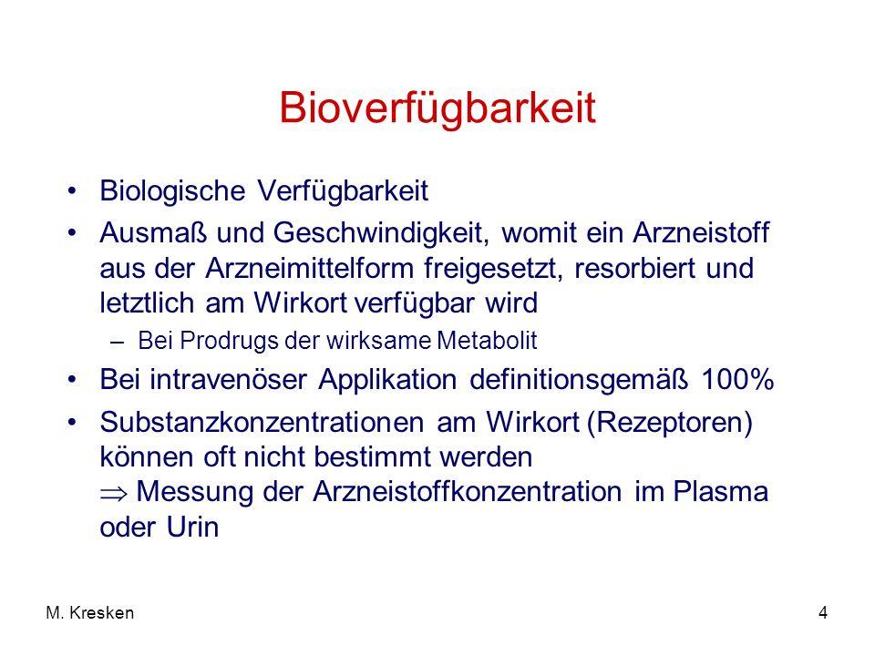 Bioverfügbarkeit Biologische Verfügbarkeit