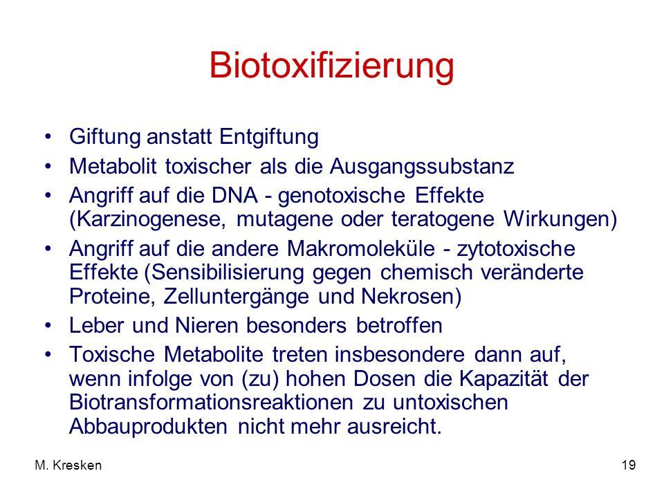 Biotoxifizierung Giftung anstatt Entgiftung