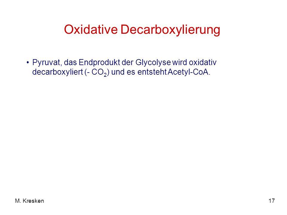 Oxidative Decarboxylierung