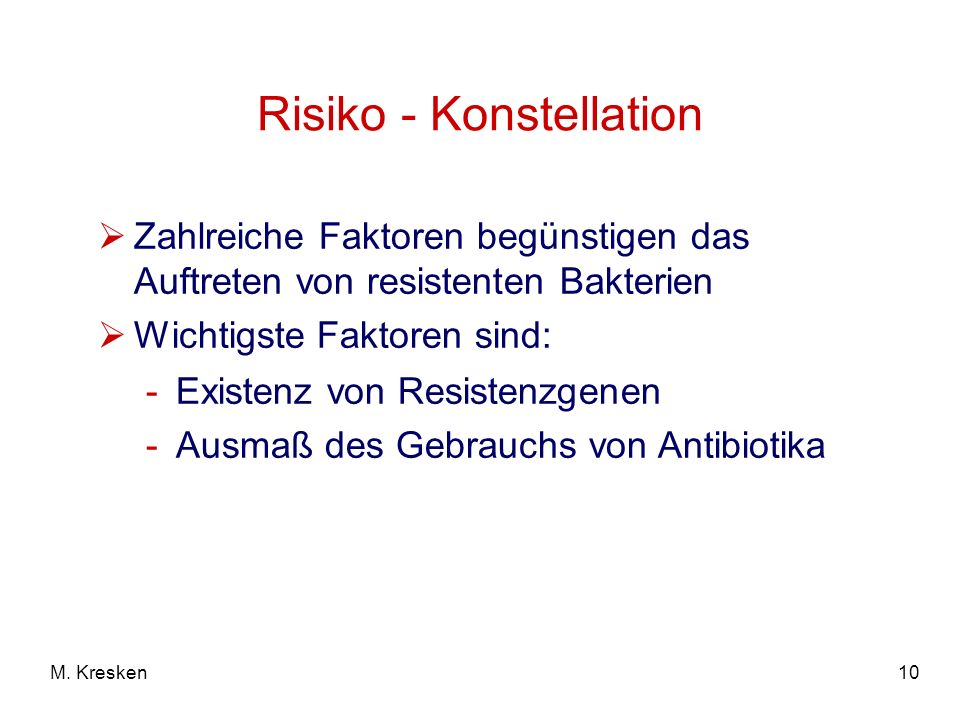 Risiko - Konstellation