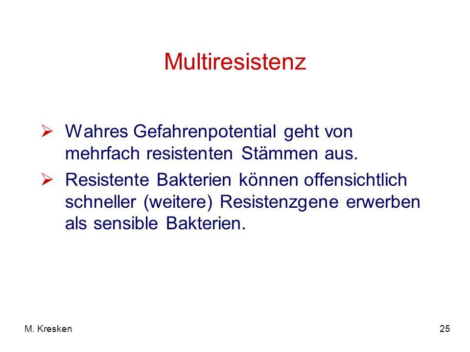 Multiresistenz Wahres Gefahrenpotential geht von mehrfach resistenten Stämmen aus.