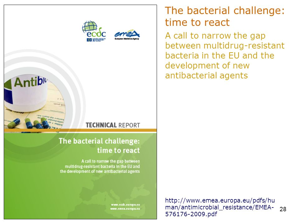 The bacterial challenge: time to react