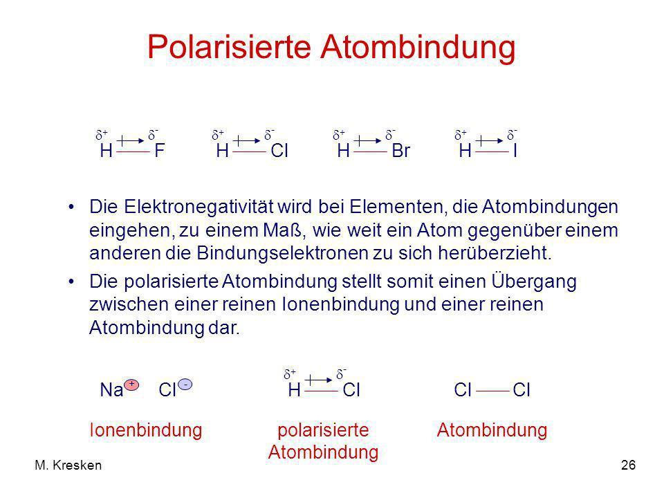 Polarisierte Atombindung