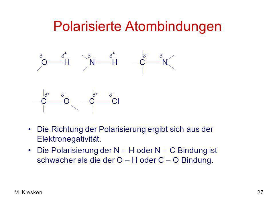 Polarisierte Atombindungen