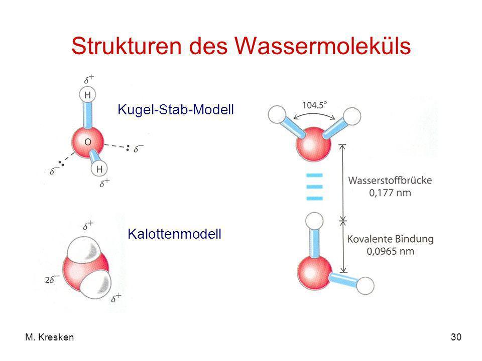 Strukturen des Wassermoleküls