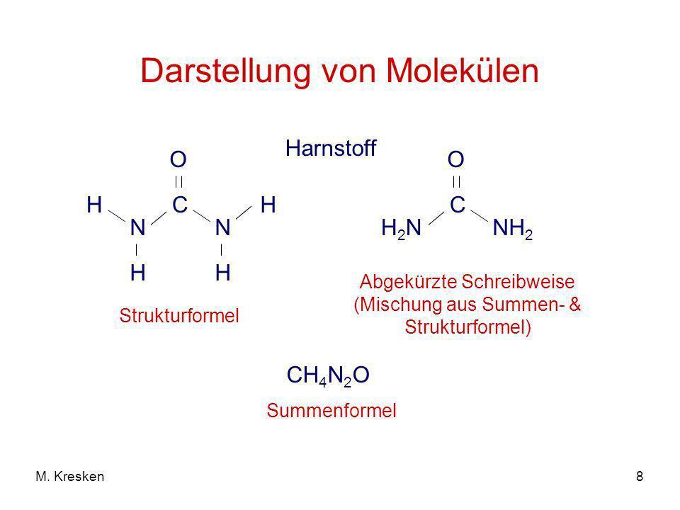 Darstellung von Molekülen