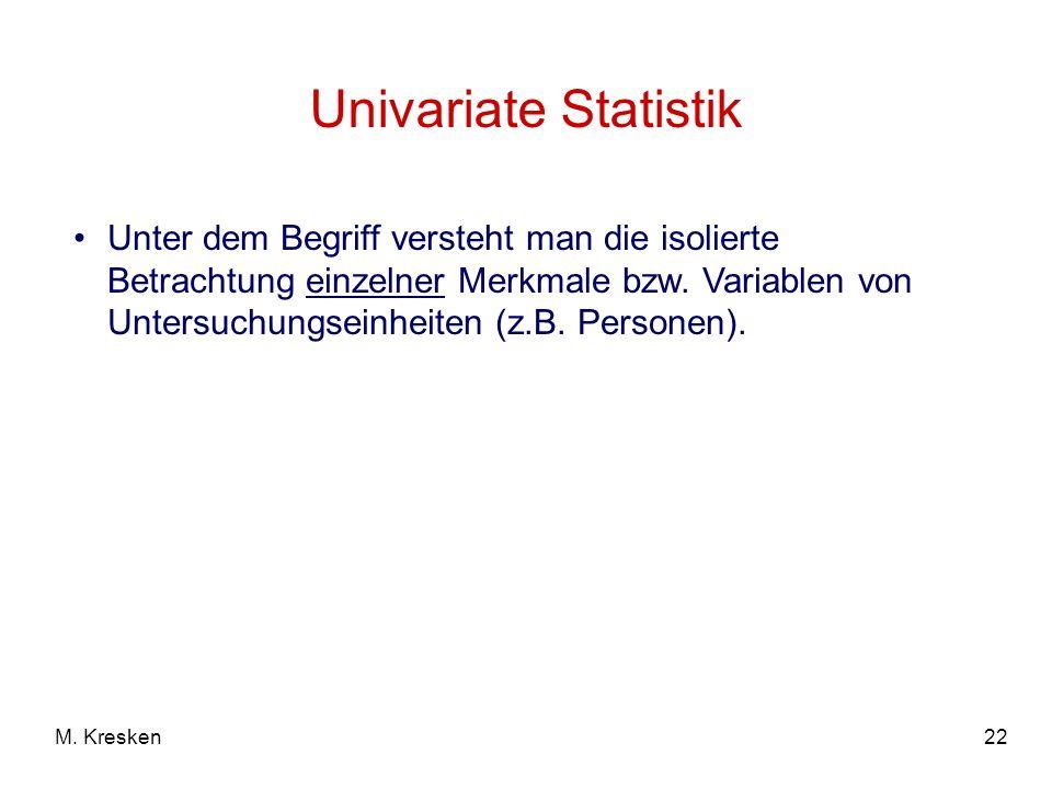 Univariate Statistik