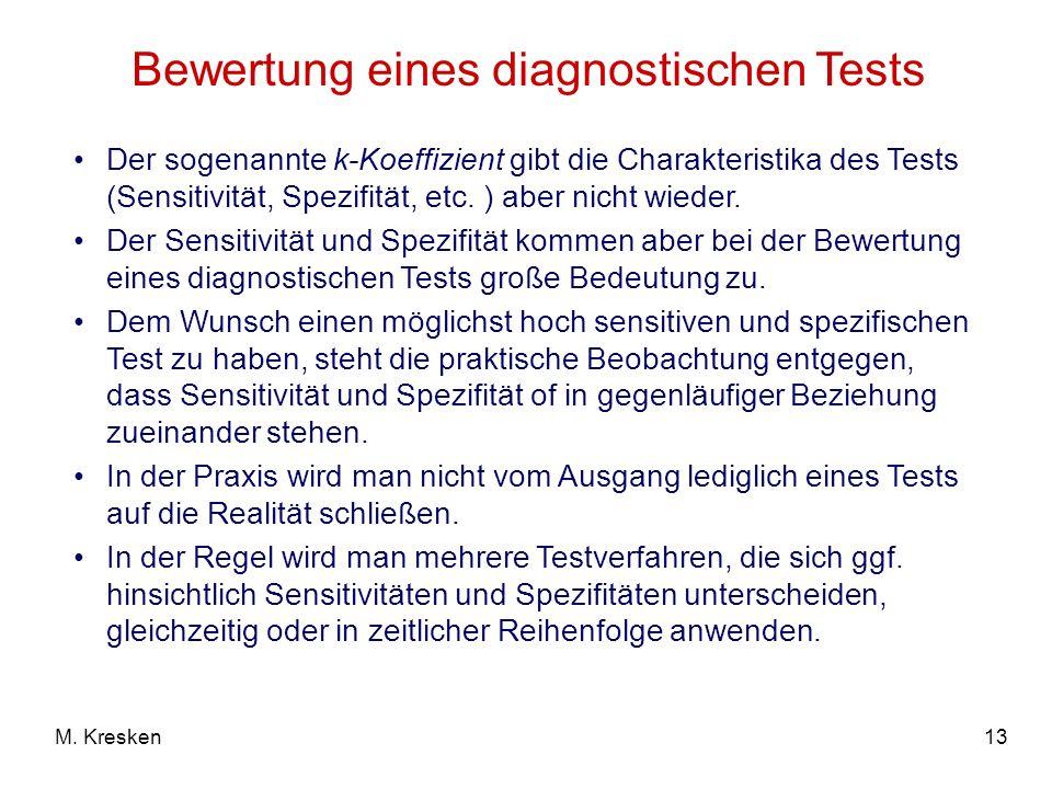 Bewertung eines diagnostischen Tests