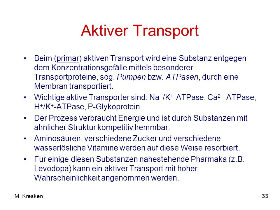Aktiver Transport