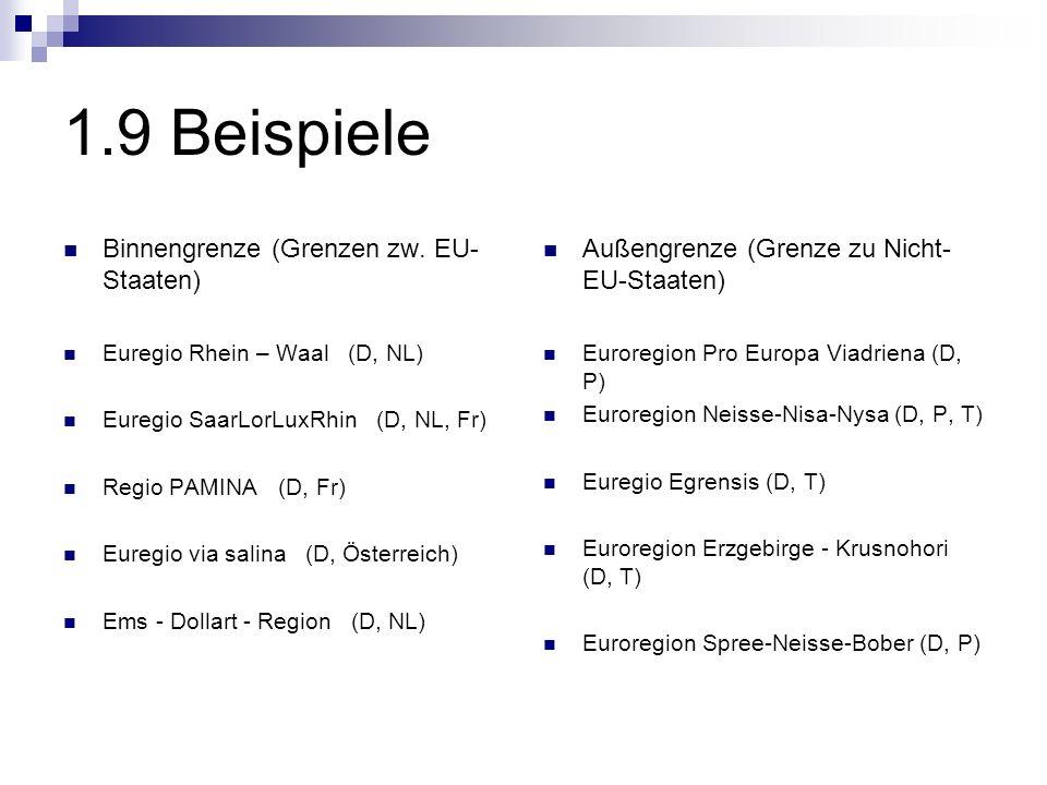 1.9 Beispiele Binnengrenze (Grenzen zw. EU-Staaten)