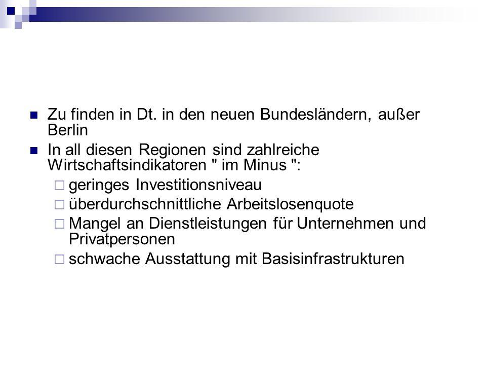 Zu finden in Dt. in den neuen Bundesländern, außer Berlin
