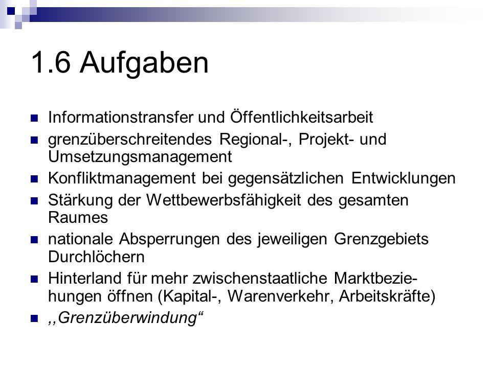 1.6 Aufgaben Informationstransfer und Öffentlichkeitsarbeit