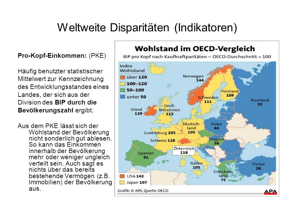Weltweite Disparitäten (Indikatoren)