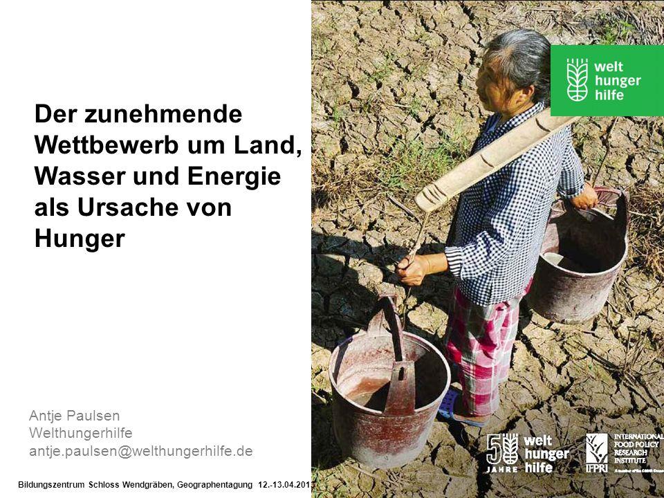 Der zunehmende Wettbewerb um Land, Wasser und Energie