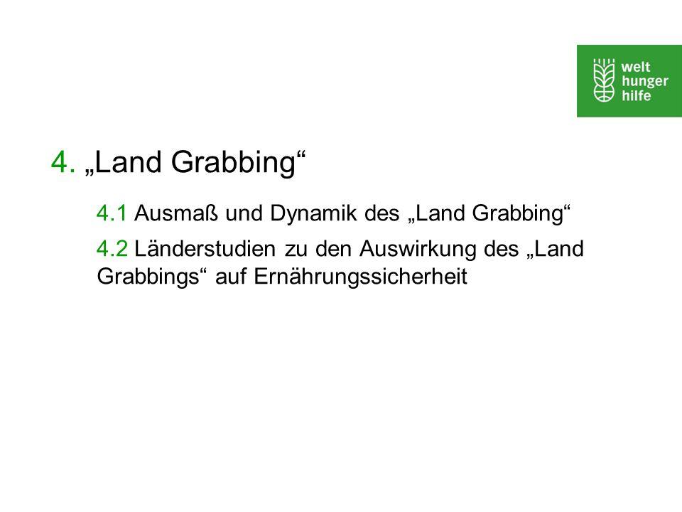 """4.1 Ausmaß und Dynamik des """"Land Grabbing"""