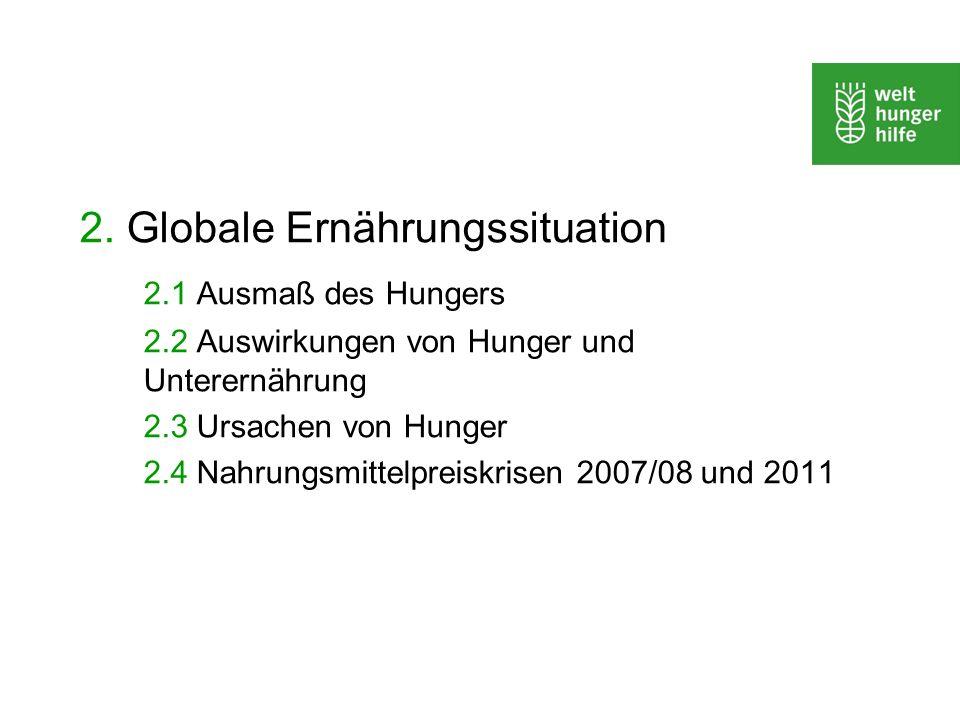 2. Globale Ernährungssituation 2.1 Ausmaß des Hungers